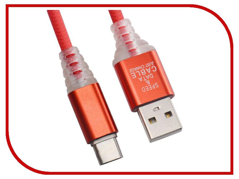 Аксессуар Liberty Project USB - Type-C Змея 1m LED TPE Red 0L-00038892 aluminum project box splitted enclosure 25x25x80mm diy for pcb electronics enclosure new wholesale