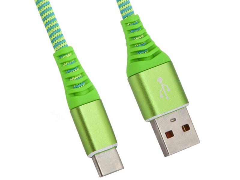 Аксессуар Liberty Project USB - Type-C Носки 1m Green 0L-00038899 цена и фото
