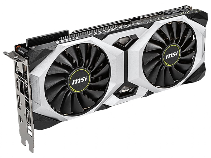 Видеокарта MSI GeForce RTX 2080 Ventus 1515Mhz PCI-E 3.0 8192Mb 14000Mhz 256 bit USB-C HDMI 3xDP VENTUS 8G / V2
