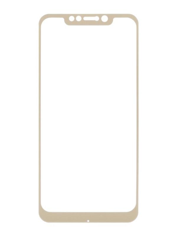 Аксессуар Защитное стекло Liberty Project для Xiaomi Pocophone F1 Tempered Glass 0.33mm Gold Frame 0L-00040661