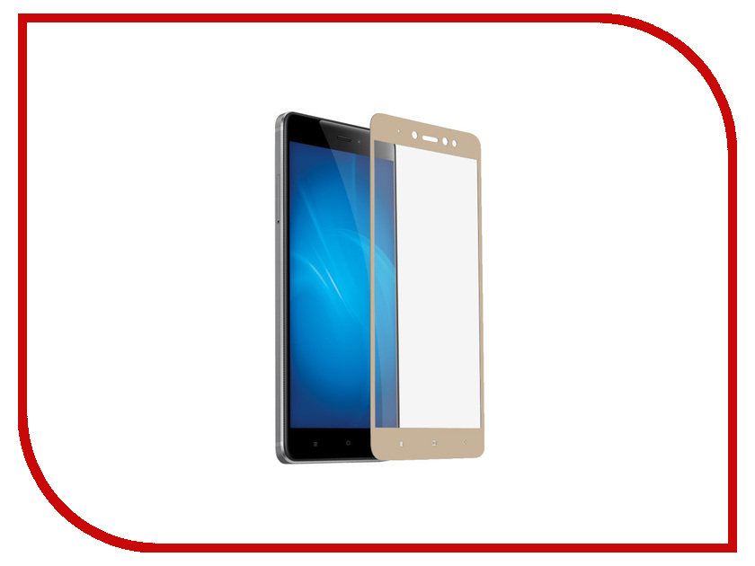 Аксессуар Защитное стекло для Xiaomi Redmi Note 5A Liberty Project Tempered Glass 2.5D 0.33mm Gold Frame 0L-00040675 makibes tempered glass for meizu m3 note meilan note 3 gold