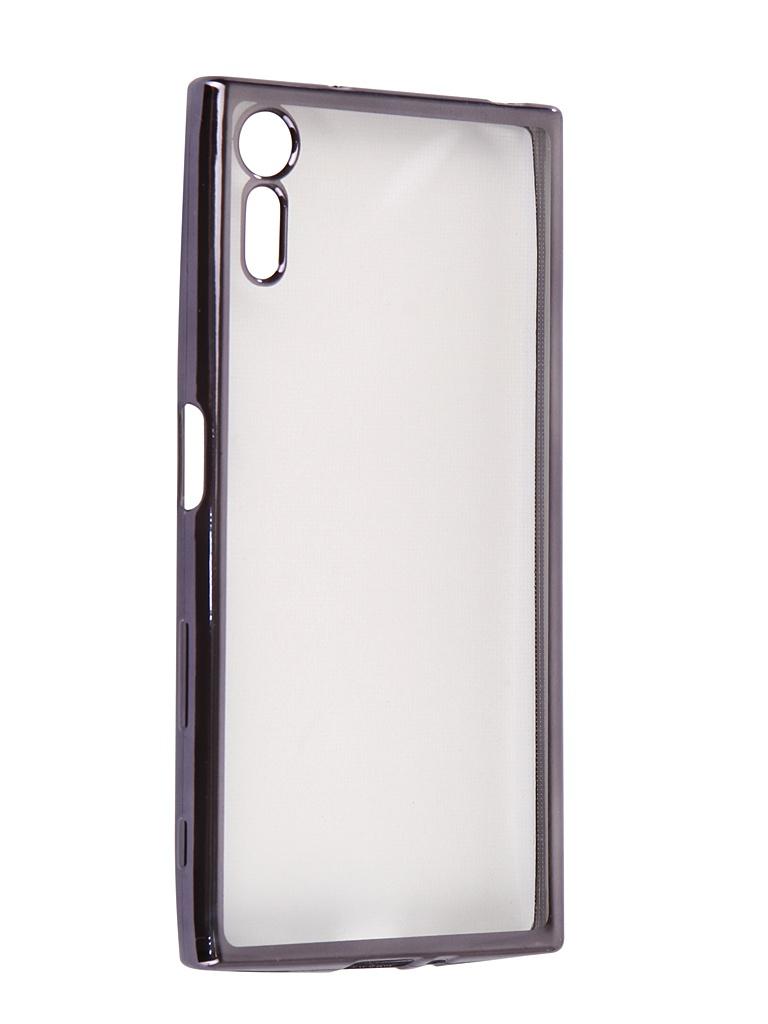 Чехол Liberty Project для Sony Xperia XZ Silicone TPU Transparent Black-Chrome Frame 0L-00032078