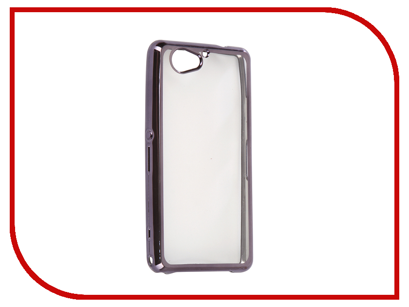 Аксессуар Чехол для Sony Xperia XZ2 Compact Liberty Project Silicone TPU Transparent Black-Chrome Frame 0L-00030886 aluminum project box splitted enclosure 25x25x80mm diy for pcb electronics enclosure new wholesale