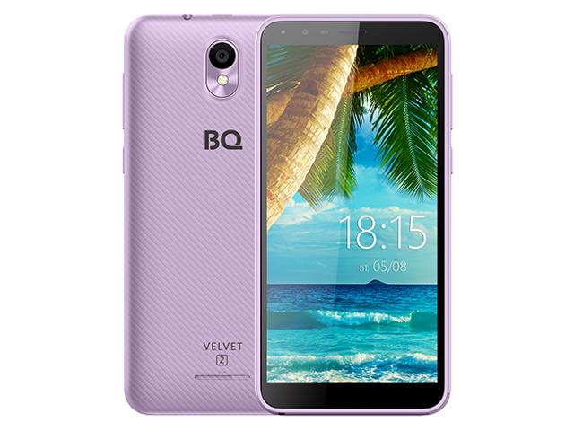 Сотовый телефон BQ 5302G Velvet 2 Purple смартфон bq mobile bq 5302g velvet 2 mint blue