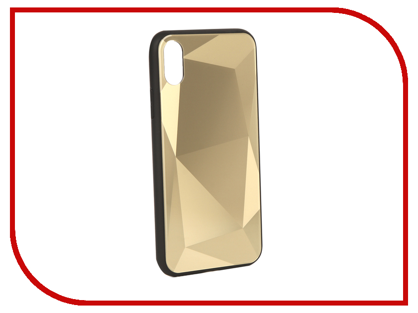 Аксессуар Чехол Liberty Project для APPLE iPhone X Diamond Glass Case Gold 0L-00040377 аксессуар защитная крышка liberty project thermo rainbow для apple iphone x purple pink 0l 00038611