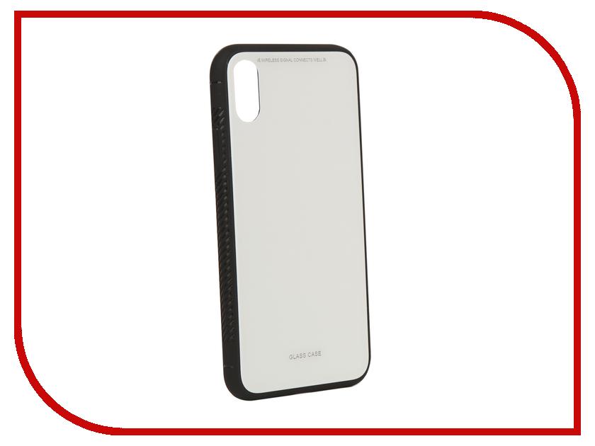 Аксессуар Чехол Liberty Project для APPLE iPhone X Glass Case White 0L-00040354 чехол для apple iphone 8 7 silicone case white