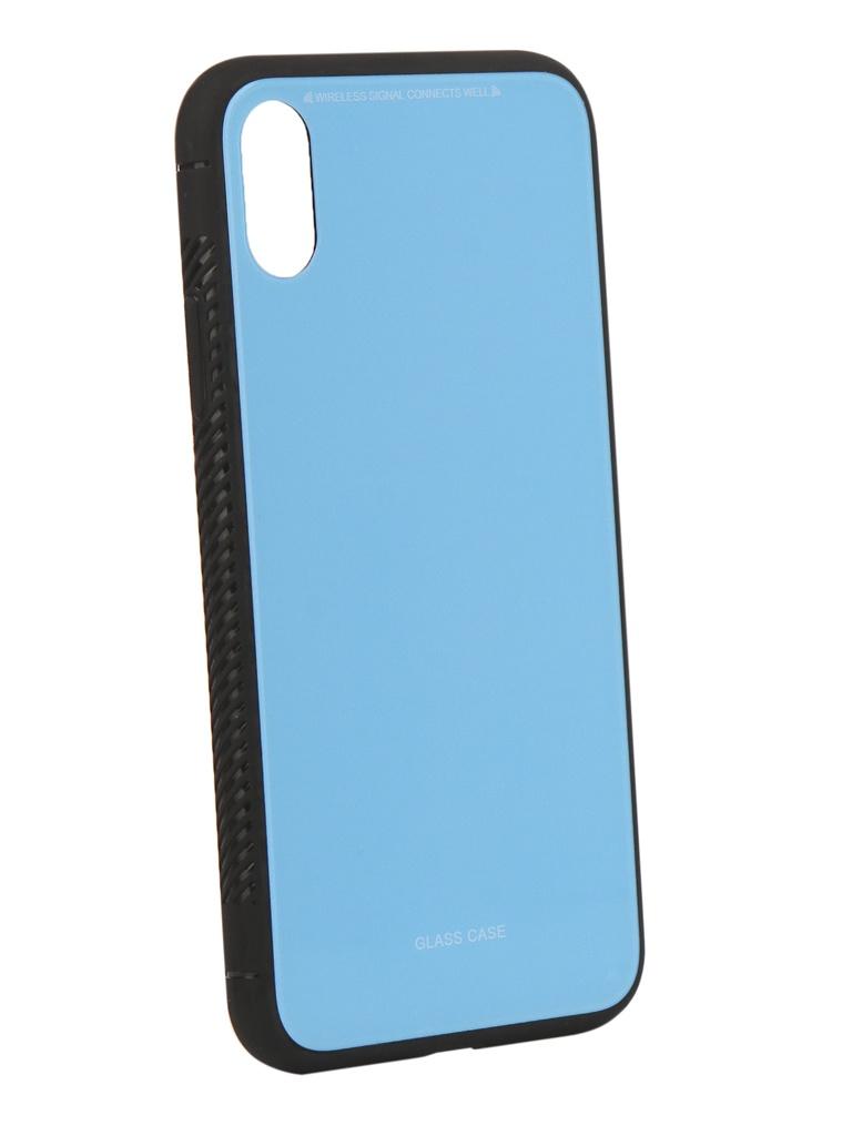 Аксессуар Чехол Liberty Project для APPLE iPhoneля X Glass Case Light-Blue 0L-00040357