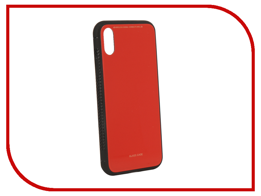 Аксессуар Чехол Liberty Project для APPLE iPhone X Glass Case Red 0L-00040355 аксессуар защитная крышка liberty project thermo rainbow для apple iphone x purple pink 0l 00038611
