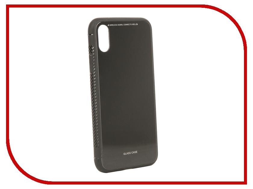 Аксессуар Чехол Liberty Project для APPLE iPhone X Glass Case Black 0L-00040353 gumai silky case for iphone 6 6s black
