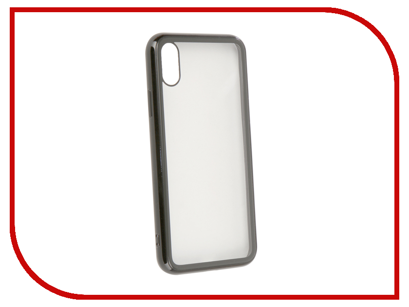 Аксессуар Чехол Liberty Project для APPLE iPhone X Glass Case Transparent Black-Frame 0L-00040388 аксессуар защитная крышка liberty project thermo rainbow для apple iphone x purple pink 0l 00038611