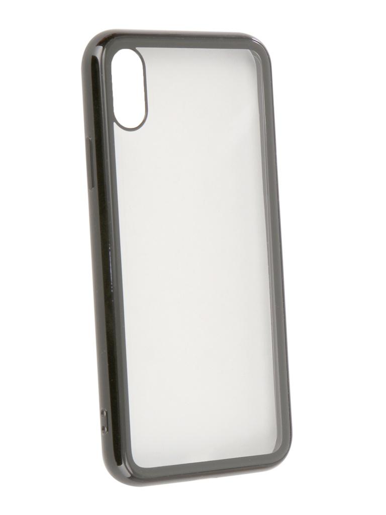 Аксессуар Чехол Liberty Project для APPLE iPhone X Glass Case Transparent Black-Frame 0L-00040388 аксессуар чехол liberty project для apple iphone x rainbow glass case gold 0l 00040365
