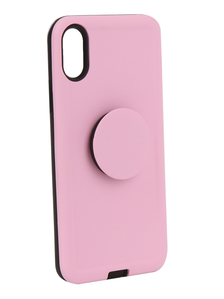 Аксессуар Чехол Liberty Project для APPLE iPhone X PopSocket Case Pink 0L-00040423 liberty project tpu чехол для iphone 6 plus pink