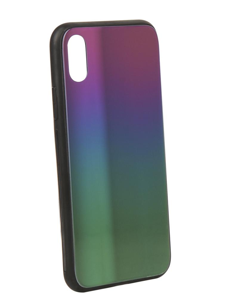 Аксессуар Чехол Liberty Project для APPLE iPhone X Rainbow Glass Case Gold 0L-00040365