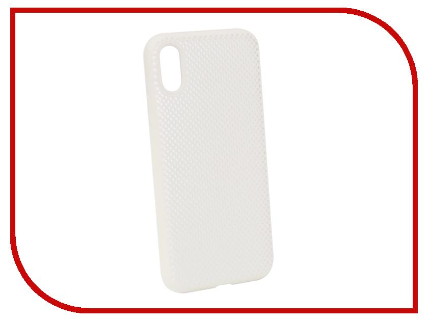 Аксессуар Чехол Liberty Project для APPLE iPhone X Silicone Dot Case White 0L-00040409 аксессуар защитная крышка liberty project для apple iphone x rose red 0l 00036271