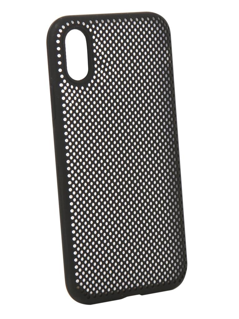 Аксессуар Чехол Liberty Project для APPLE iPhone X Silicone Dot Case Black 0L-00040408 аксессуар чехол liberty project для apple iphone x rainbow glass case gold 0l 00040365