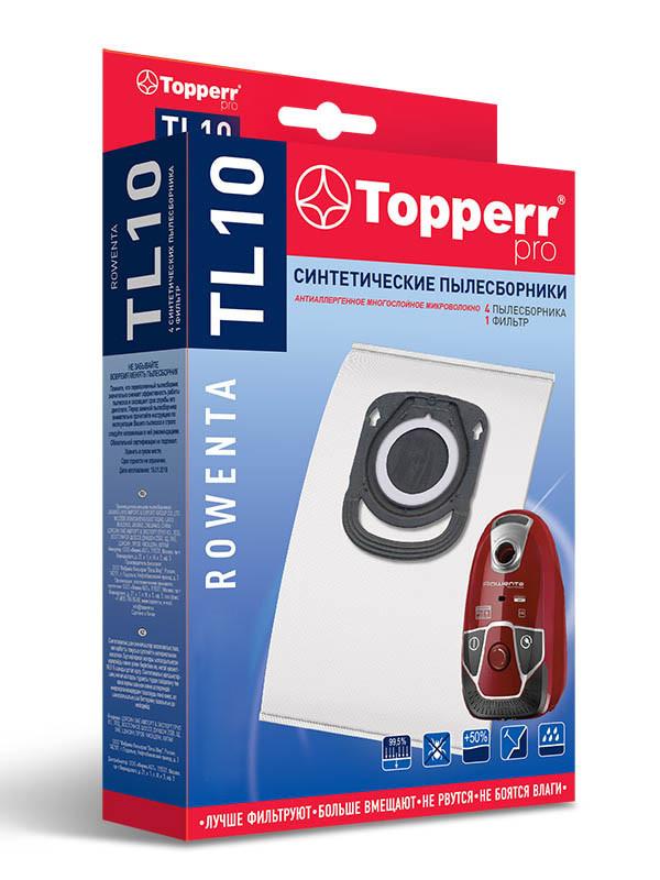 Пылесборник Topperr TL10 для Tefal Rowenta ZR200540 1428 пылесборник синтетический topperr phr10 1шт многоразовый для philips electrpolux