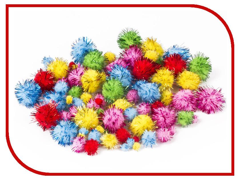 Набор Остров Сокровищ Помпоны для творчества 100шт 5 цветов 661437