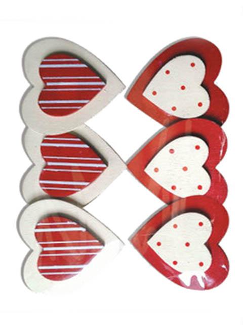 Набор для творчества Остров Сокровищ Прищепки декоративные Сердце с узором 6шт ассорти 661292
