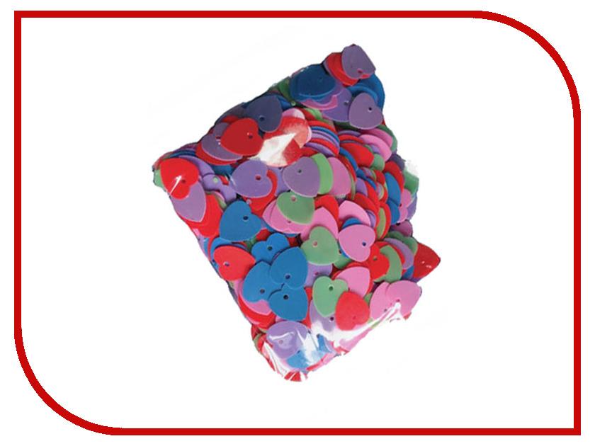 Набор для творчества Остров Сокровищ Пайетки Сердце 10mm 20g ассорти 661276