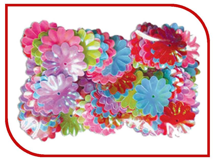 Набор Остров Сокровищ Пайетки Цветы 22mm 20g 5 цветов 661286