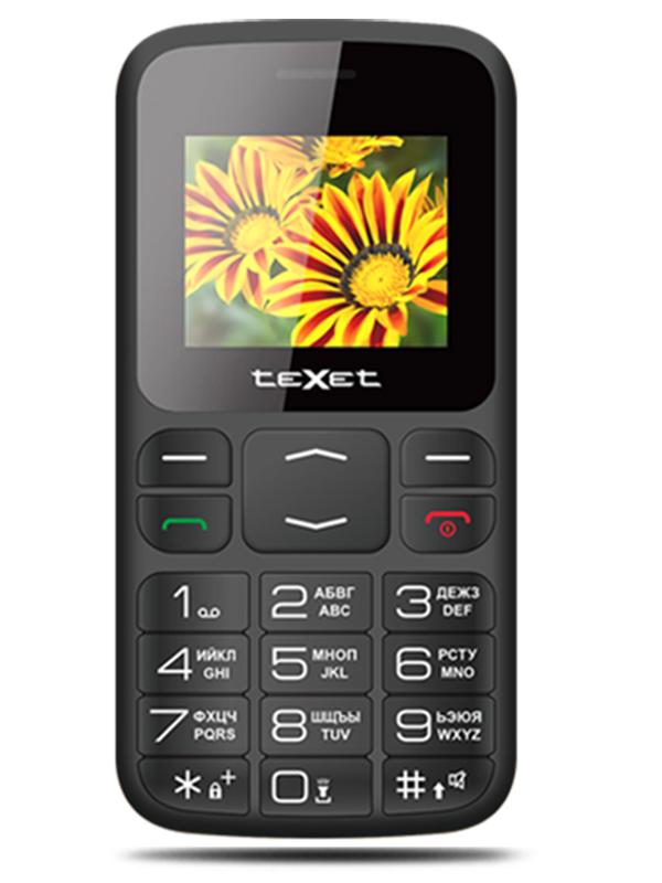 Сотовый телефон teXet TM-B208 Black цена в Москве и Питере
