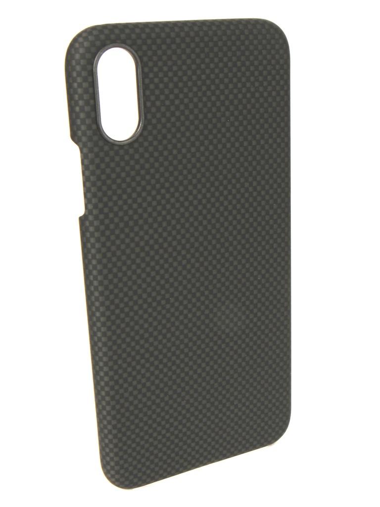Аксессуар Чехол Pitaka для APPLE iPhone XS/X Aramid Case Black-Grey KI8002XS аксессуар чехол для apple iphone x pitaka aramid case black yellow twill ki8006x