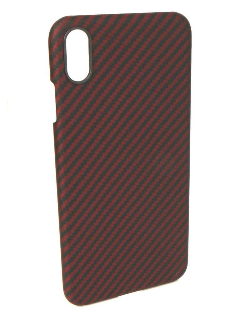 Аксессуар Чехол Pitaka для APPLE iPhone XS Max Aramid Case Black-Red KI9003XM аксессуар чехол для apple iphone xs max red line ultimate black ут000016121