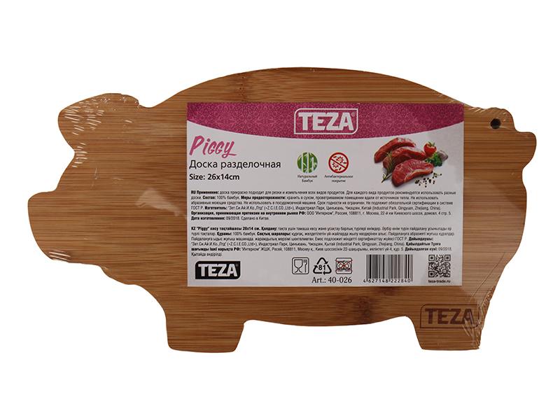 Доска разделочная Teza Piggy 26х14.2х1.2cm 40-026