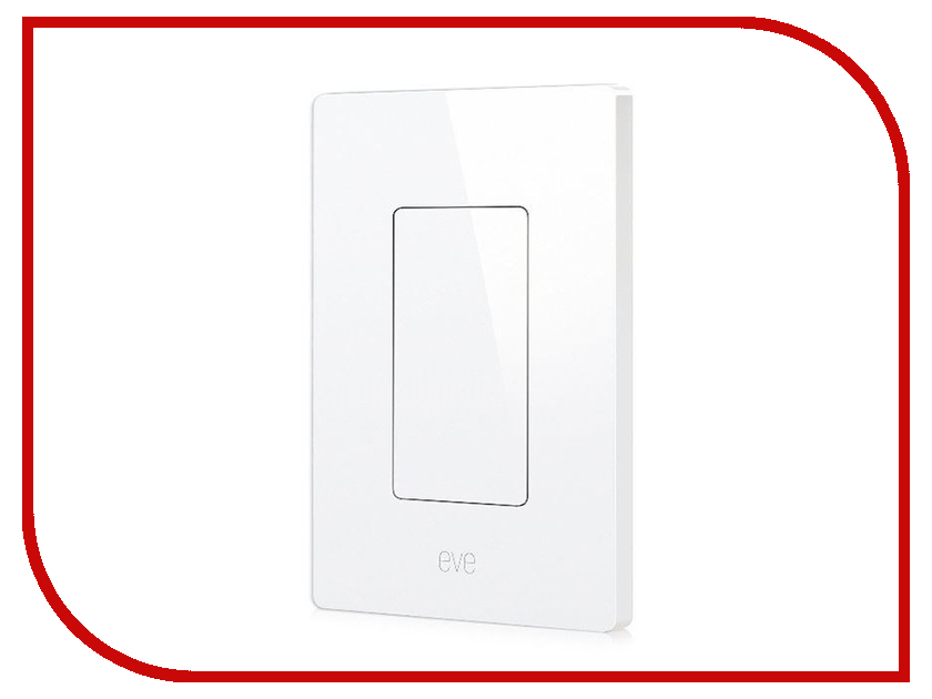 Выключатель Elgato Eve Light Switch 1EL104001000 us standard touch switch 2 gang 2 way white crystal glass panel light switch touch screen wall switch wall socket for lamp