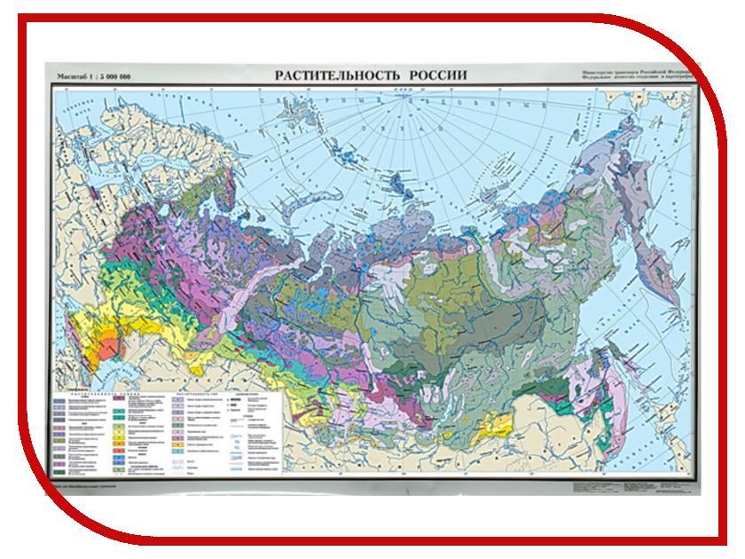 Карта Глобусный Мир Растительности России 20019