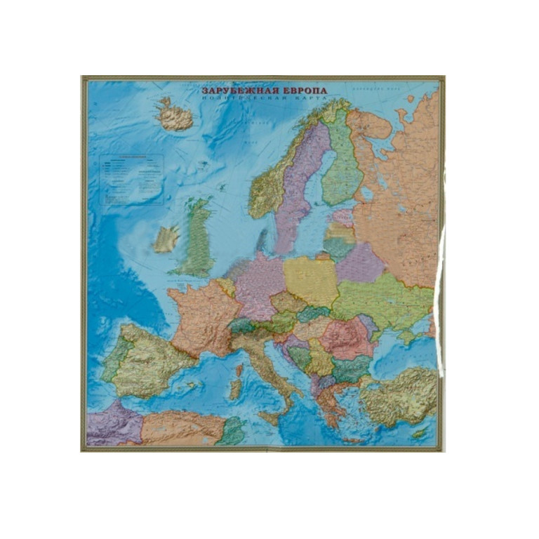цена на Карта политическая Глобусный Мир Зарубежная Европа 20062