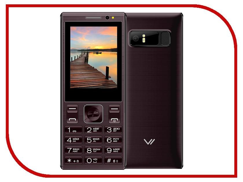 Сотовый телефон VERTEX D536 Coffee сотовый телефон vertex s106 flip pink