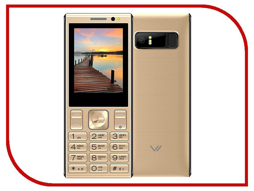 Сотовый телефон VERTEX D536 Gold сотовый телефон vertex s106 flip pink