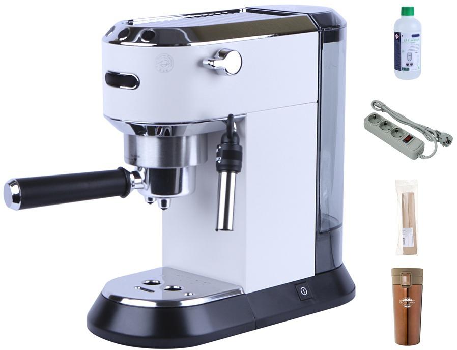 Кофемашина DeLonghi Dedica EC 685 White New Выгодный набор + серт. 200Р!!!