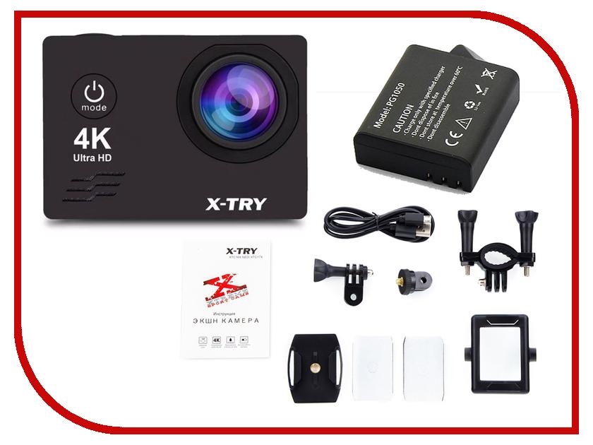 Экшн-камера X-TRY XTC172 Black diy 12v 8 x aa battery holder case box with leads switch black