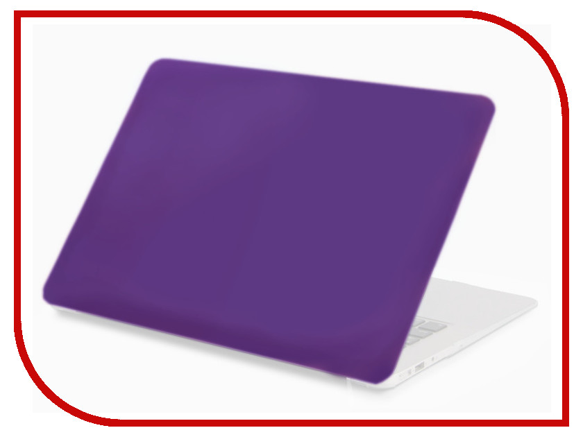 Аксессуар Чехол 13-inch Gurdini для APPLE MacBook Air 13 New 2018 Plastic Matt Dark Purple 907937