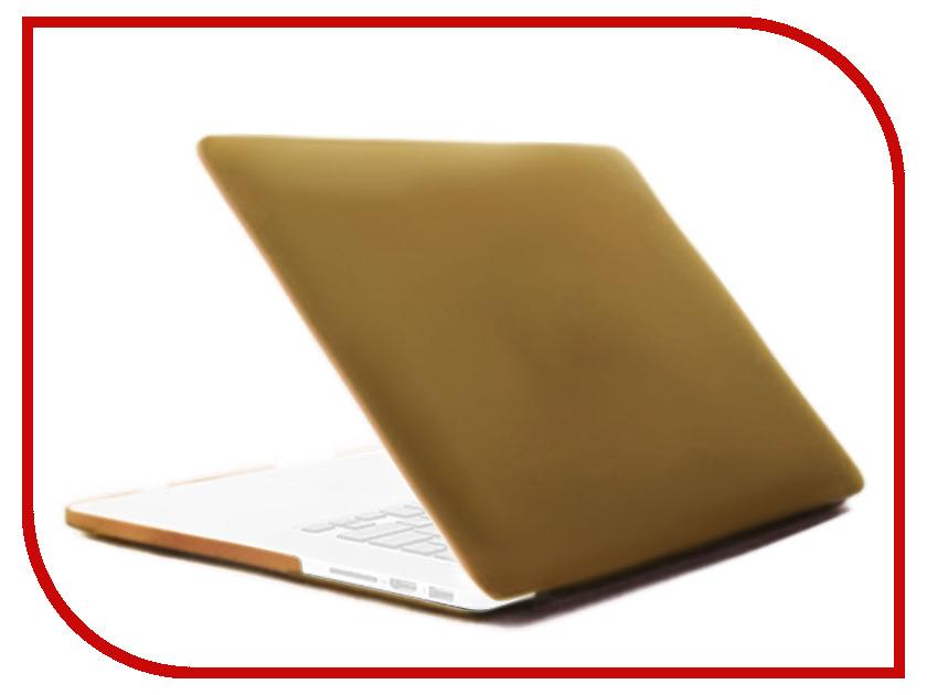 Аксессуар Чехол 12-inch Gurdini для APPLE MacBook 12 Plastic Matt Gold 220219 аксессуар чехол gurdini touchbar для apple macbook pro retina 15 red 902928