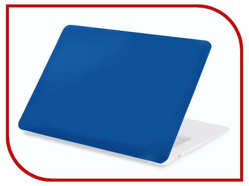 Аксессуар Чехол 13-inch Gurdini для APPLE MacBook Air 13 New 2018 Plastic Matt Blue 907741 аксессуар чехол кейс 13 3 inch activ glass для apple macbook air 13 sky blue 88522