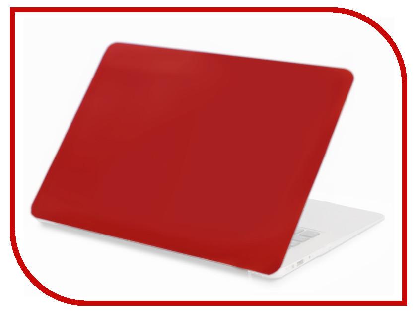 Аксессуар Чехол 13-inch Gurdini для APPLE MacBook Air 13 New 2018 Plastic Matt Red 907727 аксессуар чехол gurdini touchbar для apple macbook pro retina 15 red 902928