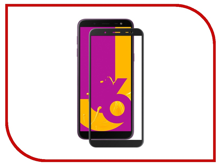 Аксессуар Стекло противоударное для Samsung Galaxy J6 Gurdini Full Glass 2.5D Black 907928 аксессуар стекло противоударное для apple iphone x gurdini 2d full screen 0 22mm matte black 905592