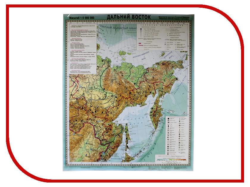 Карта Глобусный Мир Россия Дальний Восток 20233