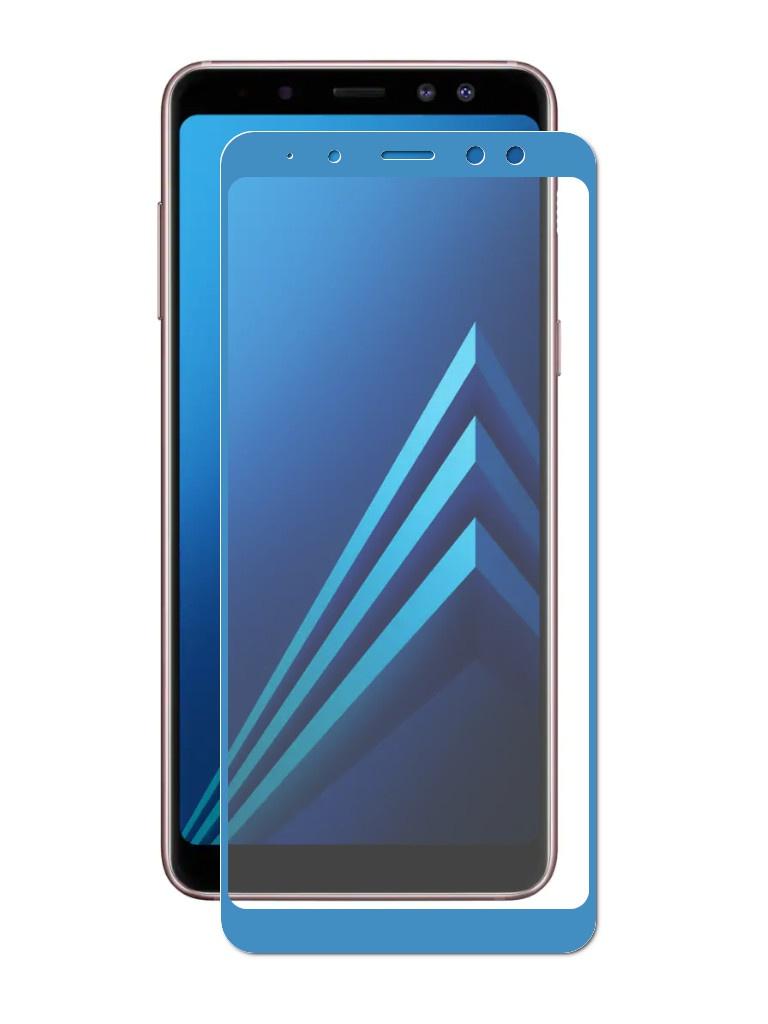 Аксессуар Защитное стекло для Samsung Galaxy A8 Plus 2018 A730 Zibelino TG 5D Blue ZTG-5D-SAM-A730-BLU аксессуар защитное стекло для samsung galaxy a8 2018 а530 zibelino tg full screen gold 0 33mm 2 5d ztg fs sam a530f gld