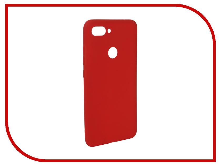 Аксессуар Чехол для Xiaomi Mi8 Lite Zibelino Soft Matte Red ZSM-XIA-MI8-LT-RED