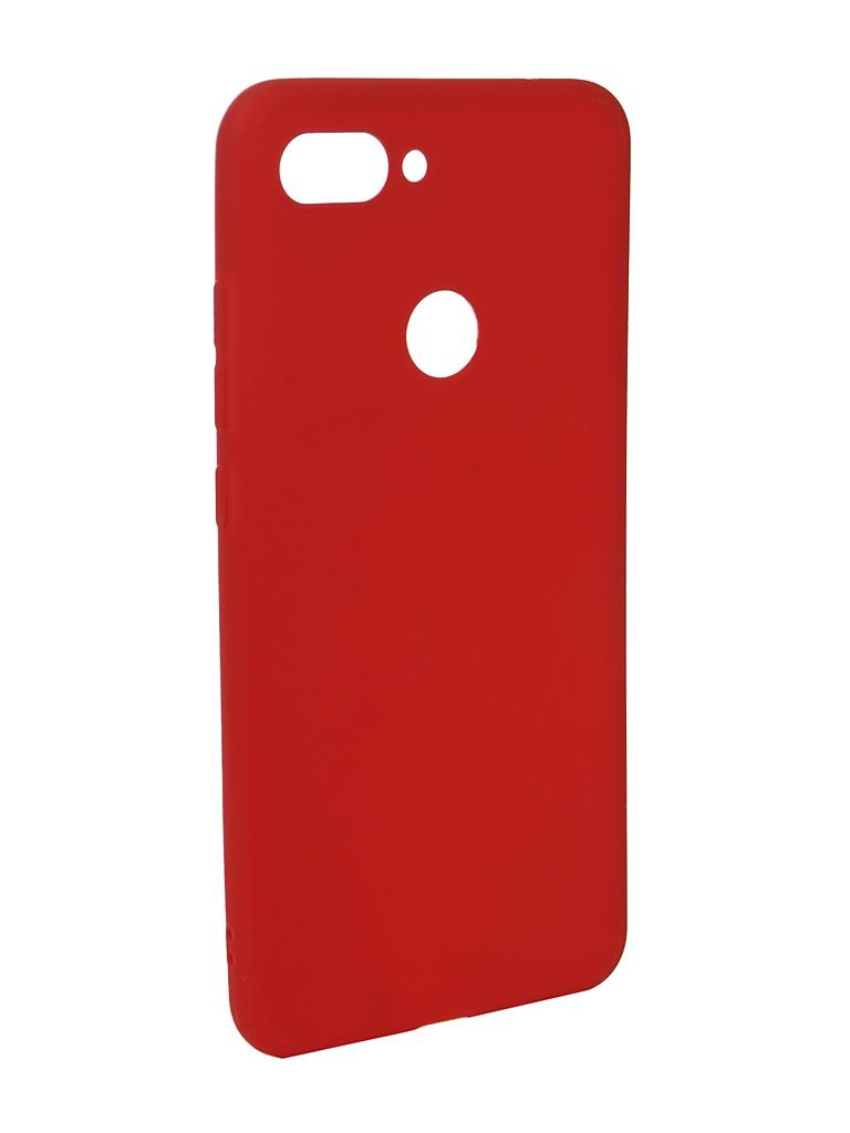 Чехол Zibelino для Xiaomi Mi8 Lite Soft Matte Red ZSM-XIA-MI8-LT-RED