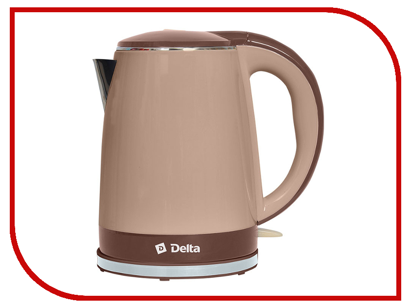 Чайник Delta DL-1370 Beige-Brown
