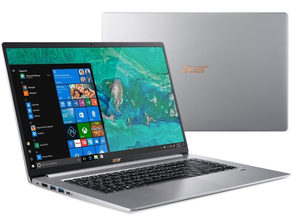 Ноутбук Acer Swift 5 SF515-51T-7749 NX.H7QER.003 (Intel Core i7-8565U 1.8 GHz/16384Mb/512Gb SSD/Intel HD Graphics/Wi-Fi/Bluetooth/Cam/15.6/1920x1080/Touchscreen/Windows 10 64-bit) ноутбук dell xps 13 silver 9365 5492 intel core i7 8500y 1 5 ghz 16384mb 512gb ssd intel hd graphics wi fi bluetooth cam 13 3 3200x1800 touchscreen windows 10 home 64 bit