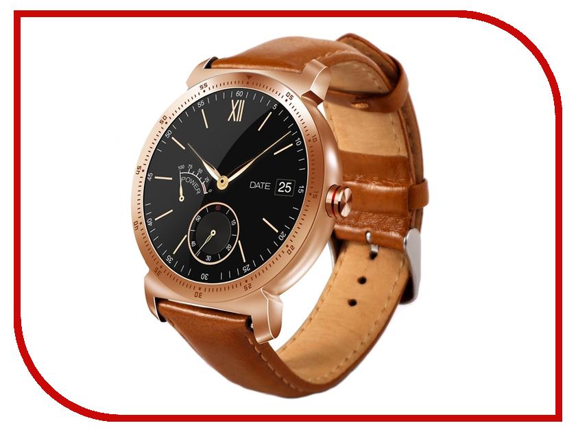 цена Умные часы Eco K88H Plus Leather Strap Gold