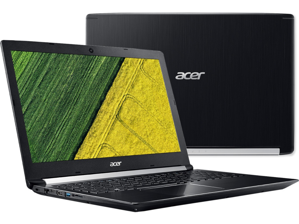 Ноутбук Acer Aspire A715-72G-770G Black NH.GXBER.012 (Intel Core i7-8750H 2.2 GHz/8192Mb/1000Gb+128Gb SSD/nVidia GeForce GTX 1050 4096Mb/Wi-Fi/Bluetooth/Cam/15.6/1920x1080/Windows 10 Home 64-bit) цены онлайн