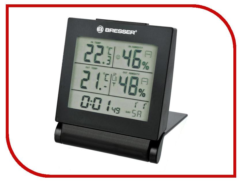 Погодная станция Bresser MyTime Travel Alarm Clock Black new shark sport watch fashion black digital date alarm stopwatch rubber band waterproof male quartz men brand clock sh375