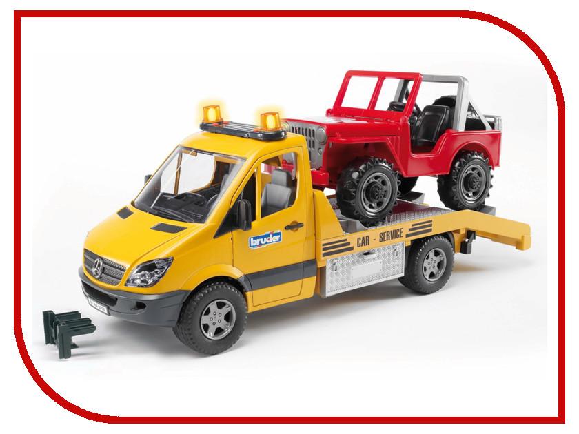 цена на Игрушка Bruder Mercedes-Benz Sprinter эвакуатор с внедорожником 02-535